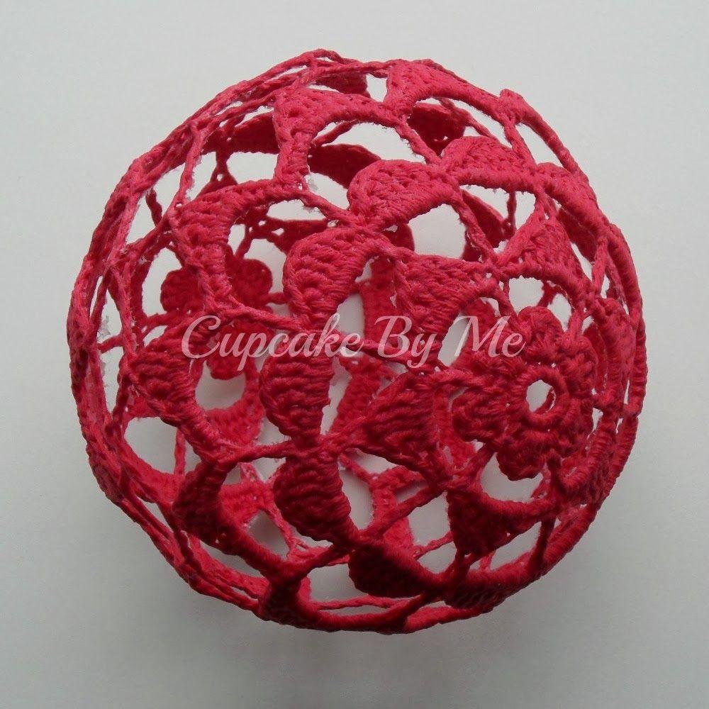 Cupcake By Me Blog ©: DIY - Hæklede julekugler   Crochê, Tricô e ...