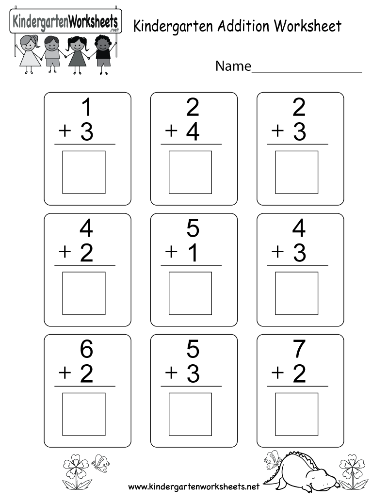 This is an addition worksheet for kindergarteners. You can download ...