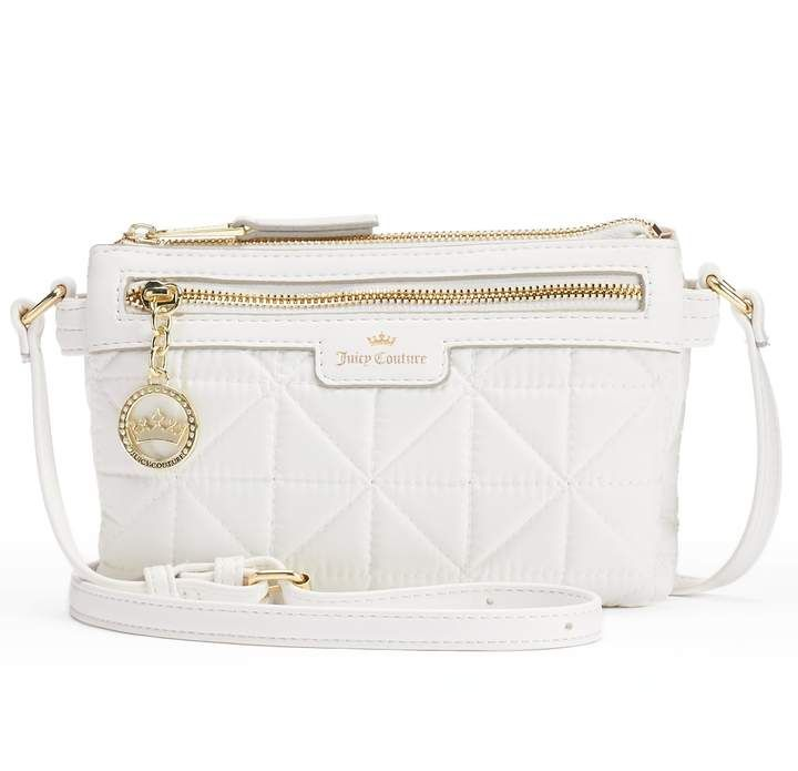 0397cbc229 Juicy Couture Crown Jewel Quilted Crossbody Bag