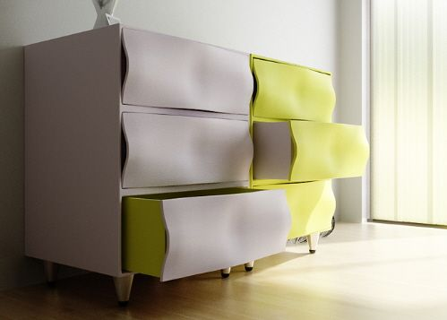 Modern bedroom furniture RIDDLE Wavy Front Dressers from Joongho Choi  Designs  RIDDLE Wavy Front Dressers. Modern Bedroom Dressers