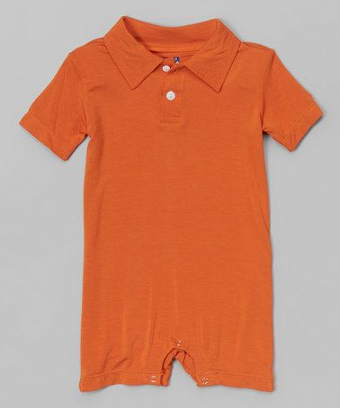 d8e9df6f5b9d This Harvest Polo Romper - Infant by KicKee Pants is perfect!  zulilyfinds