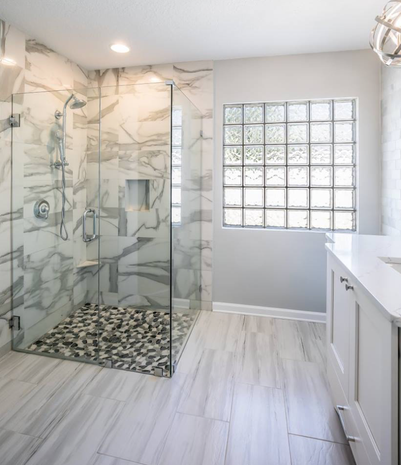 Walk In Shower In Master Bathroom Happy Floors Paint
