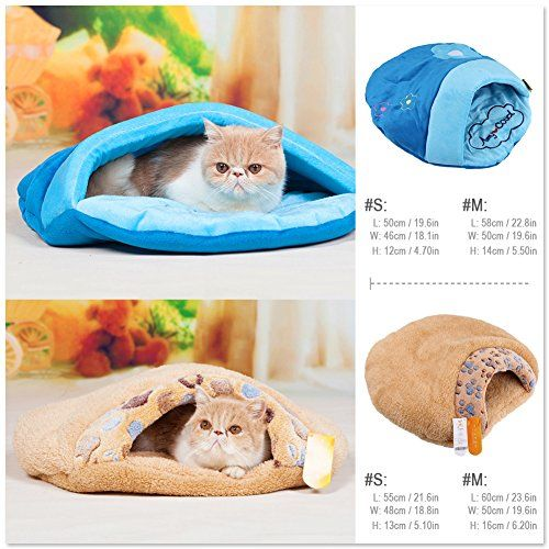 Pet Cave Pet Sleeping Bag For Cat /Small Dogs Rabbits Pet Bedding for Rabbits/ Cat Cat Sleeping Bed for Autumn/ Winter Small dogs Cat Pet Bed Pet Nest Pet House Warm Super Comfort and Soft Cute - Orange M