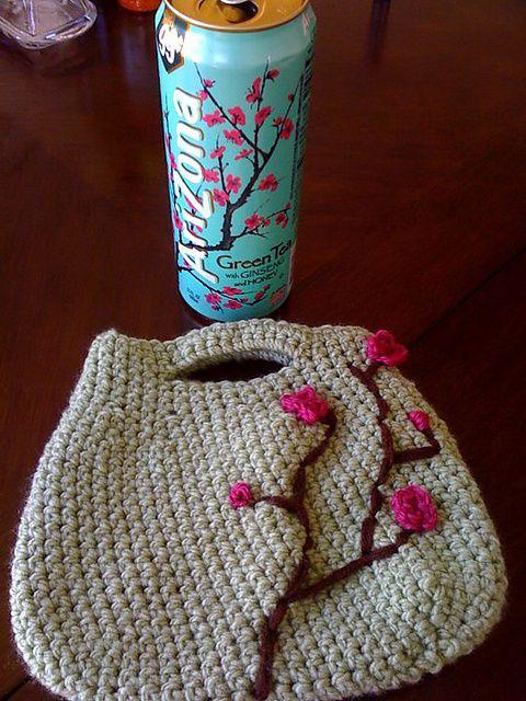 15 Beautiful Cherry Blossom Crochet Patterns   Bolsos, Carteras ...