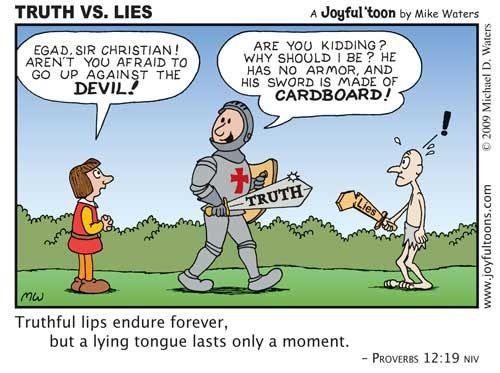 Truth and Lie. Another emphasis of Proverbs 12:17 and 19 ...