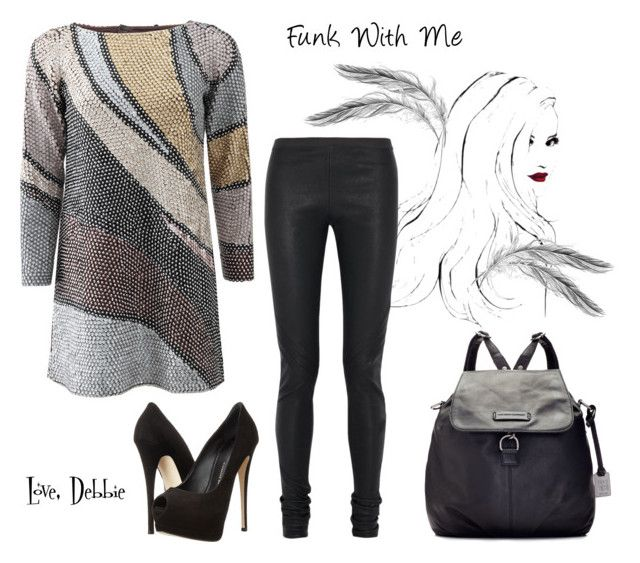 """""""Funk With Me"""" by debbie-michailides ❤ liked on Polyvore featuring Marc Jacobs, Rick Owens, Giuseppe Zanotti and Frye"""