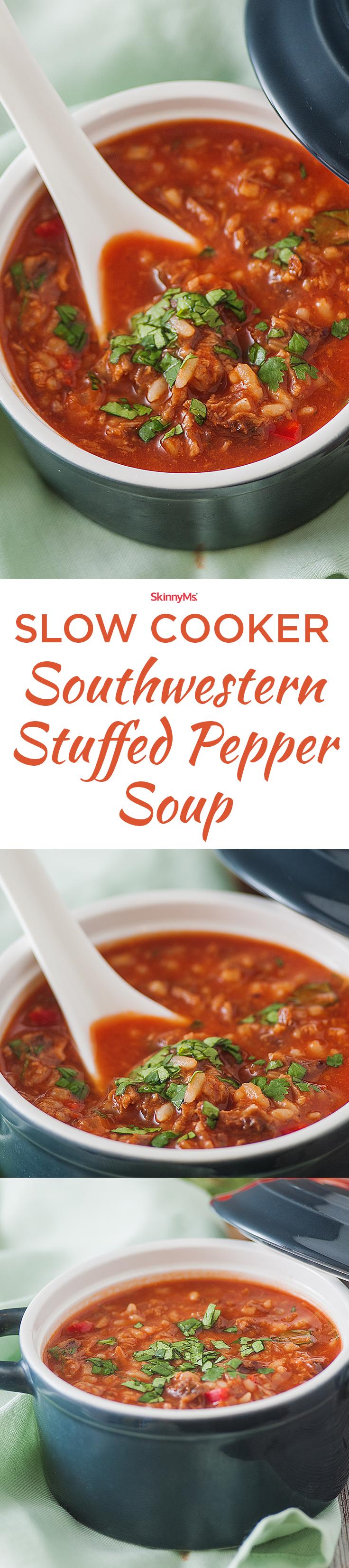 Watch Southwestern Stuffed Pepper Soup video