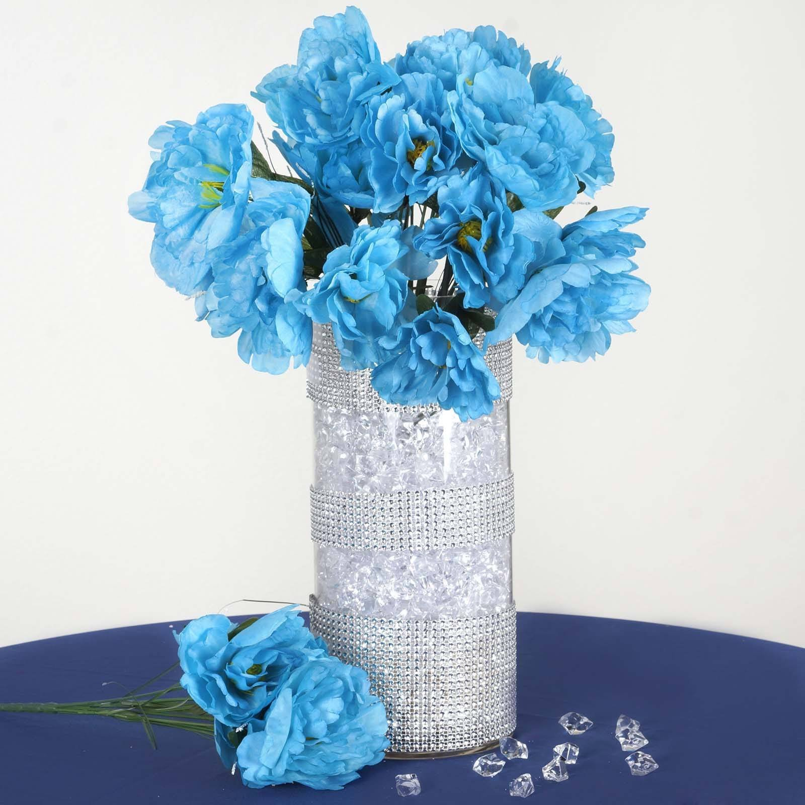 12 pack turquoise artificial peony flower bridal bouquet peony 12 pack turquoise artificial peony flower bridal bouquet mightylinksfo