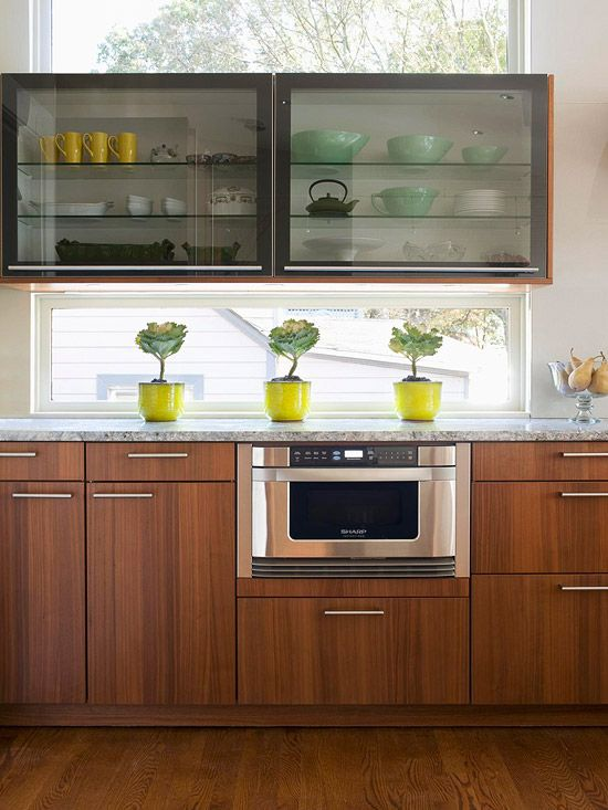 Walnut Cabinets Kitchen Blinds For Stylish Ideas Cabinet Doors Kitchens Add Wood Warmth A Pretty And Prominent Graining In These Give Contemporary Slab Door Styles Warmer Look