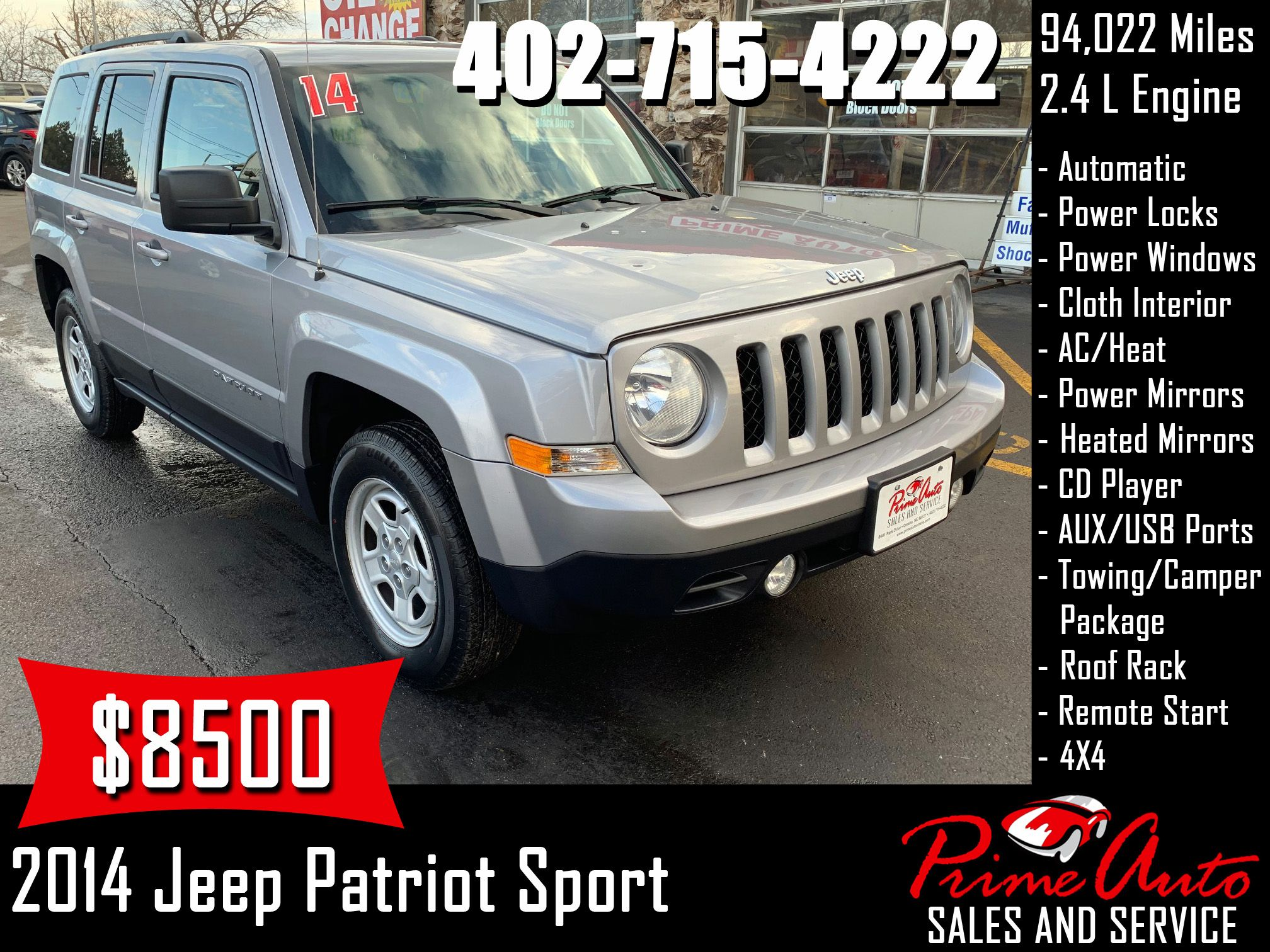 2014 Jeep Patriot Sport Call Us Today 402 715 4222 Jeep