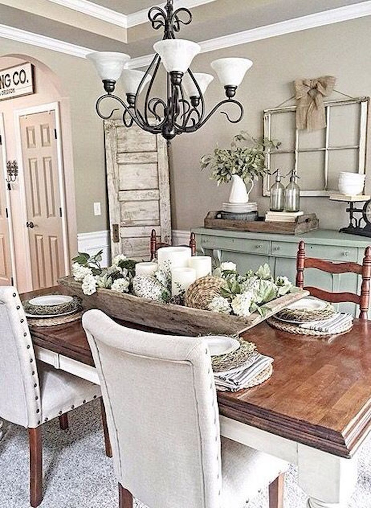 160+ Awesome Formal Design Ideas For Your Dining Room ... on Farmhouse Dining Room Curtain Ideas  id=76018