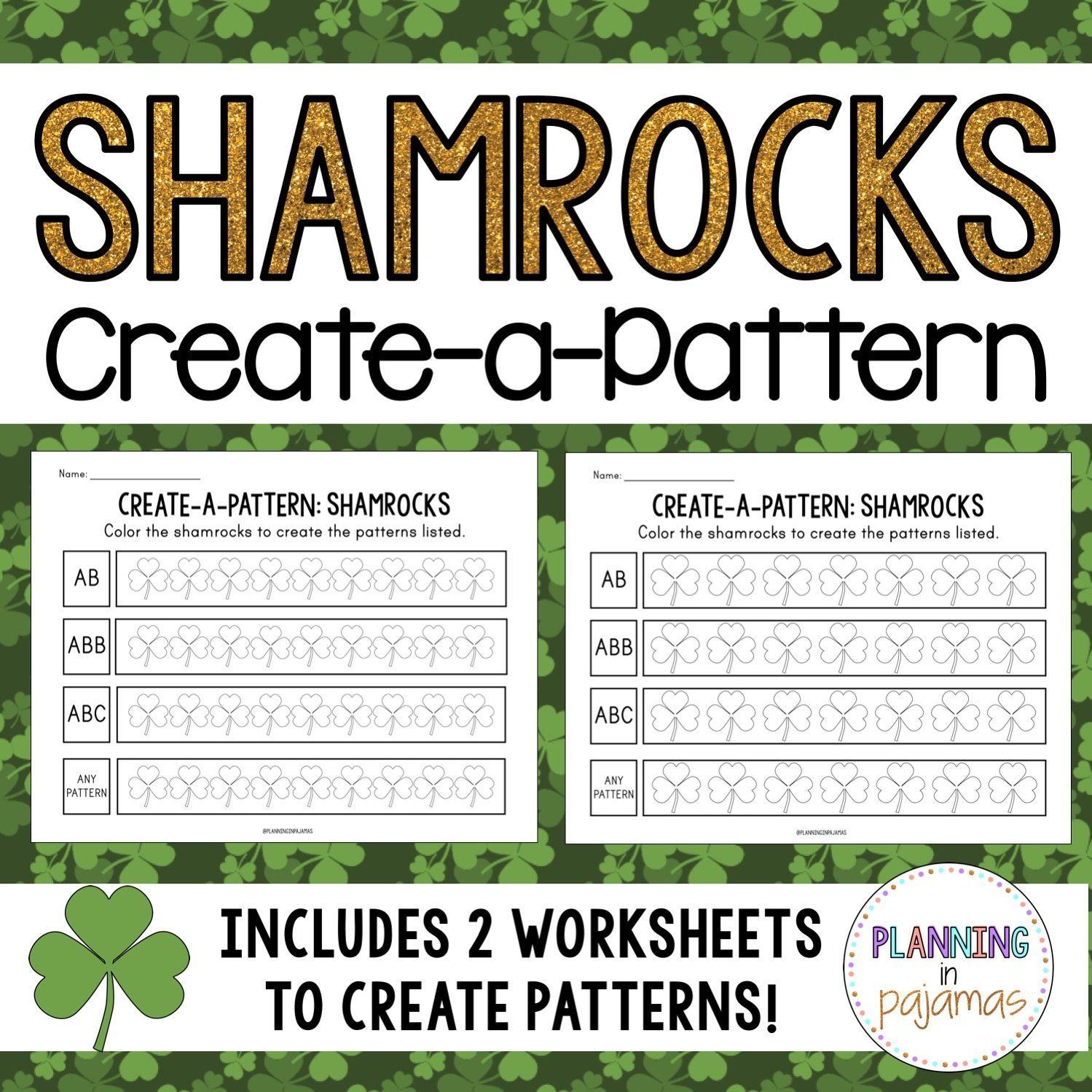 Color A Pattern Shamrocks