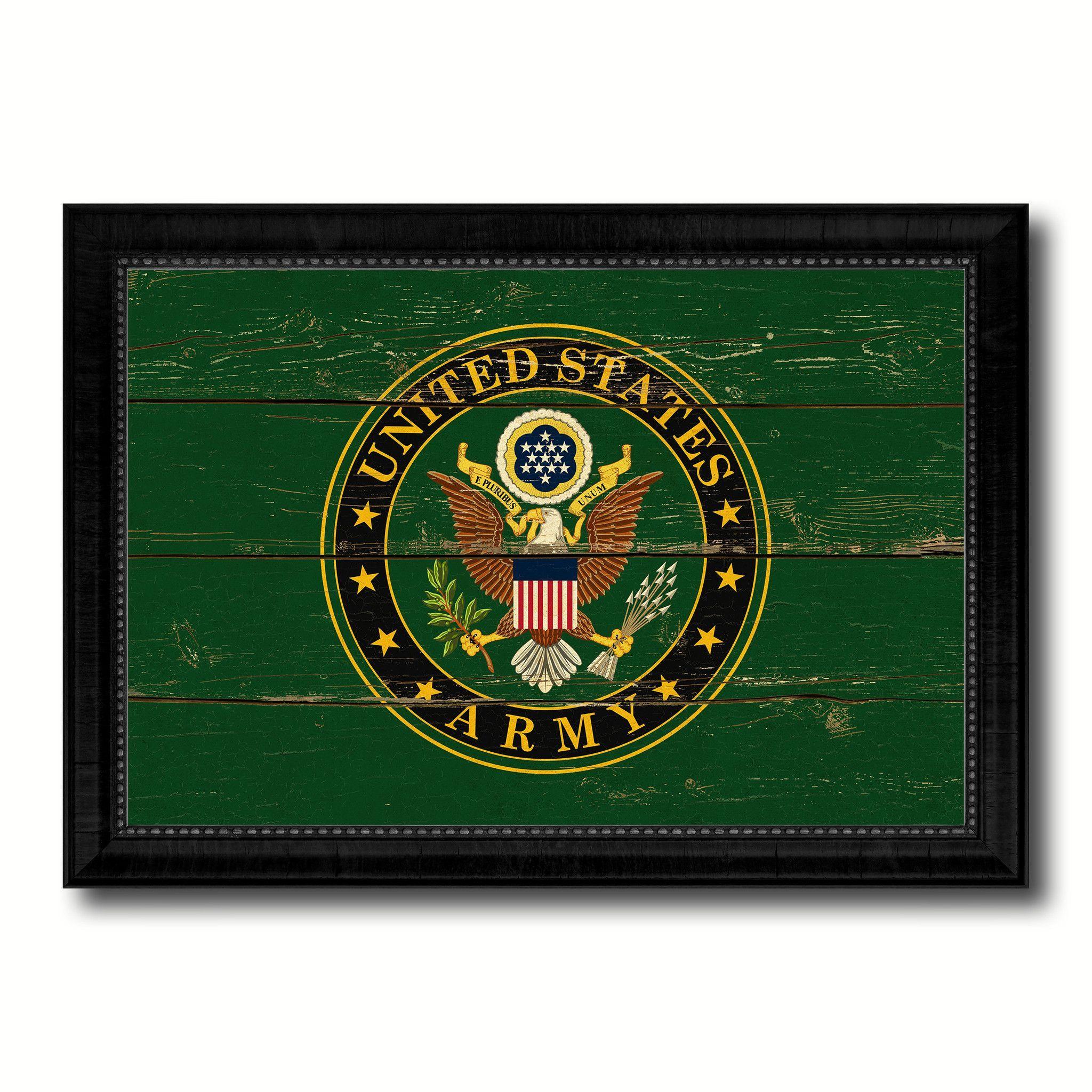 Us army house military flag vintage canvas print with black us army house military flag vintage canvas print with black picture frame home decor wall art decoration gift ideas jeuxipadfo Images