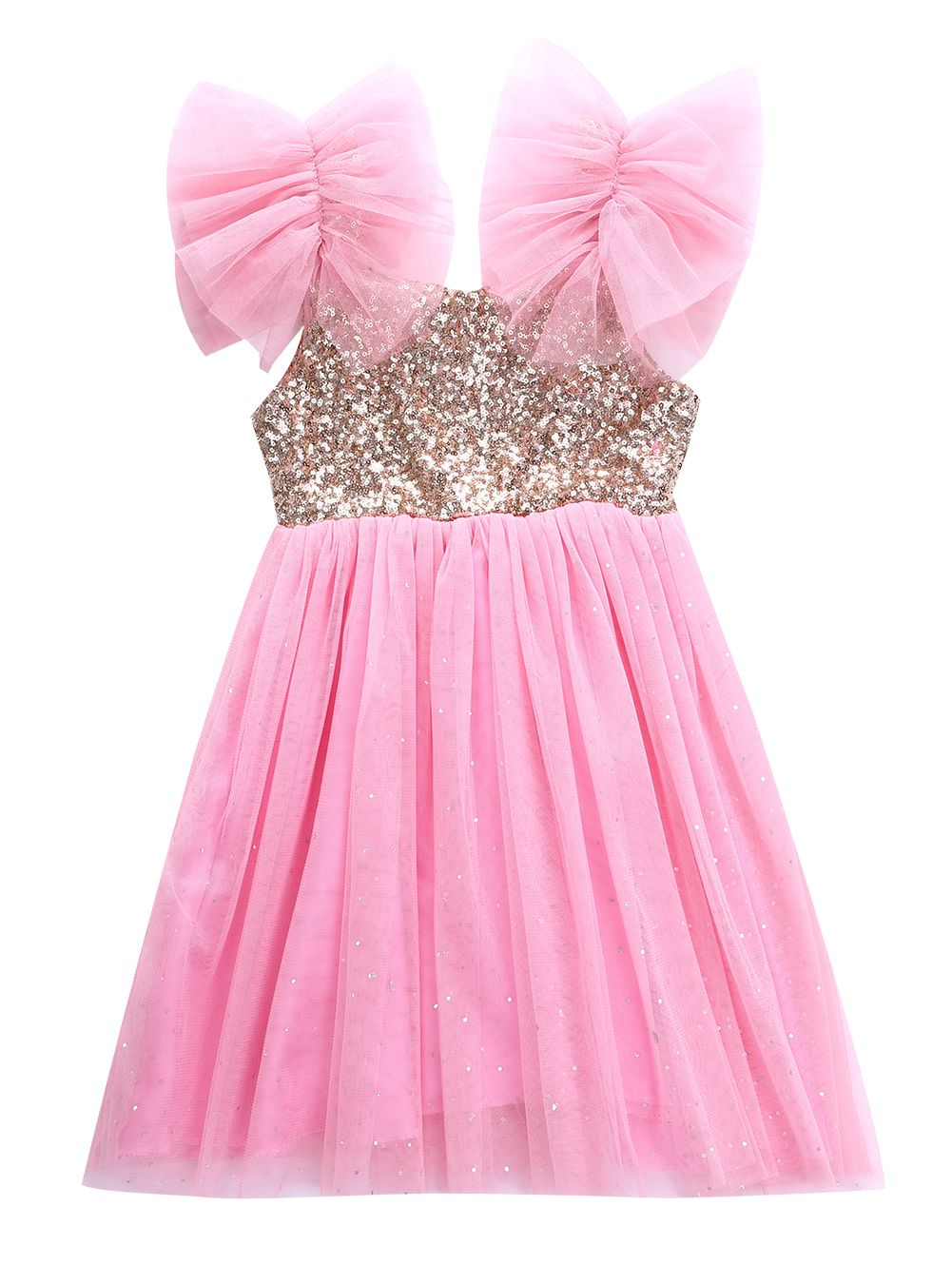 New Bling Pinks Princess Children Baby Girls Clothing Dress Party ...