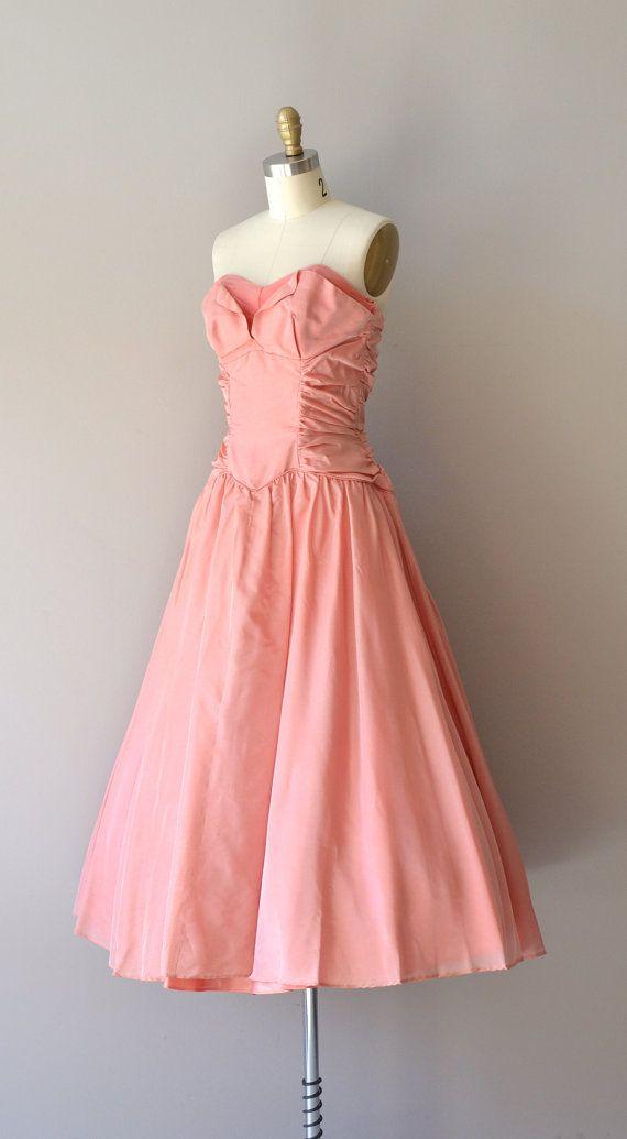Saint Germain dress / strapless 1950s dress / vintage 50s dress ...