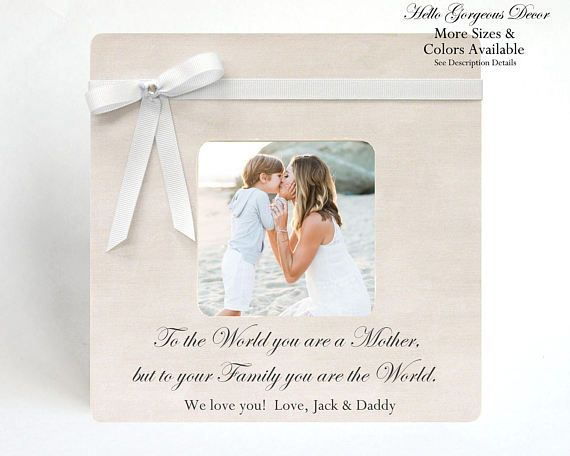 Mom Mother Picture Frame Personalized Gift to Mom from Son