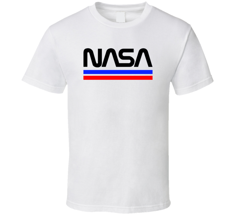 Nasa Re Embraces The Worm Retro Cool Retired Logo T Shirt