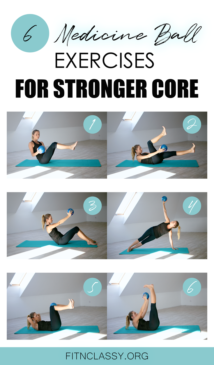 6 core strengthening exercises with a medicine or soft ball which you can do at home or at the gym....