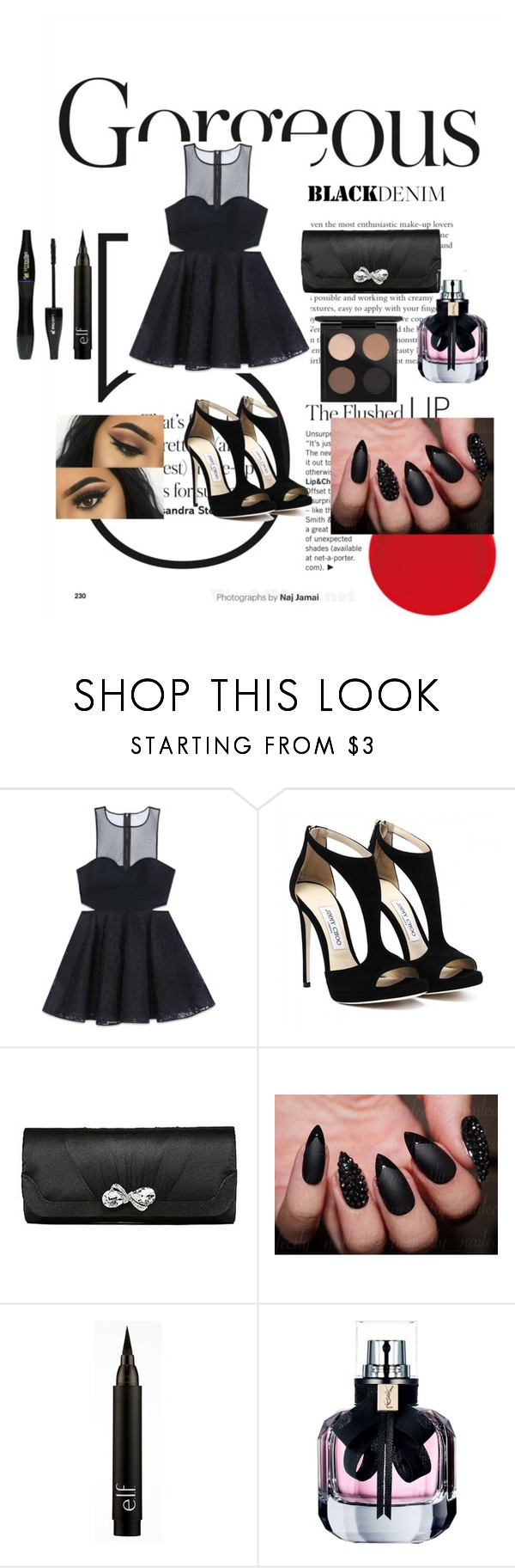 """""""set 13"""" by maryam91-467 ❤ liked on Polyvore featuring Bebe, Lancôme, Yves Saint Laurent and MAC Cosmetics"""