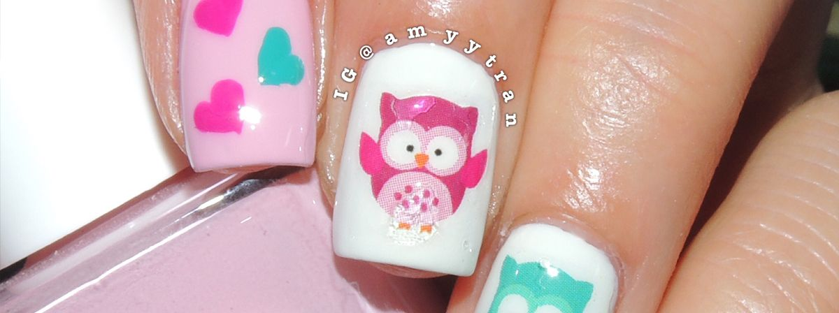 Nail Art Tutorial: Valentine\'s Day Owls | Nails | Pinterest | Art ...