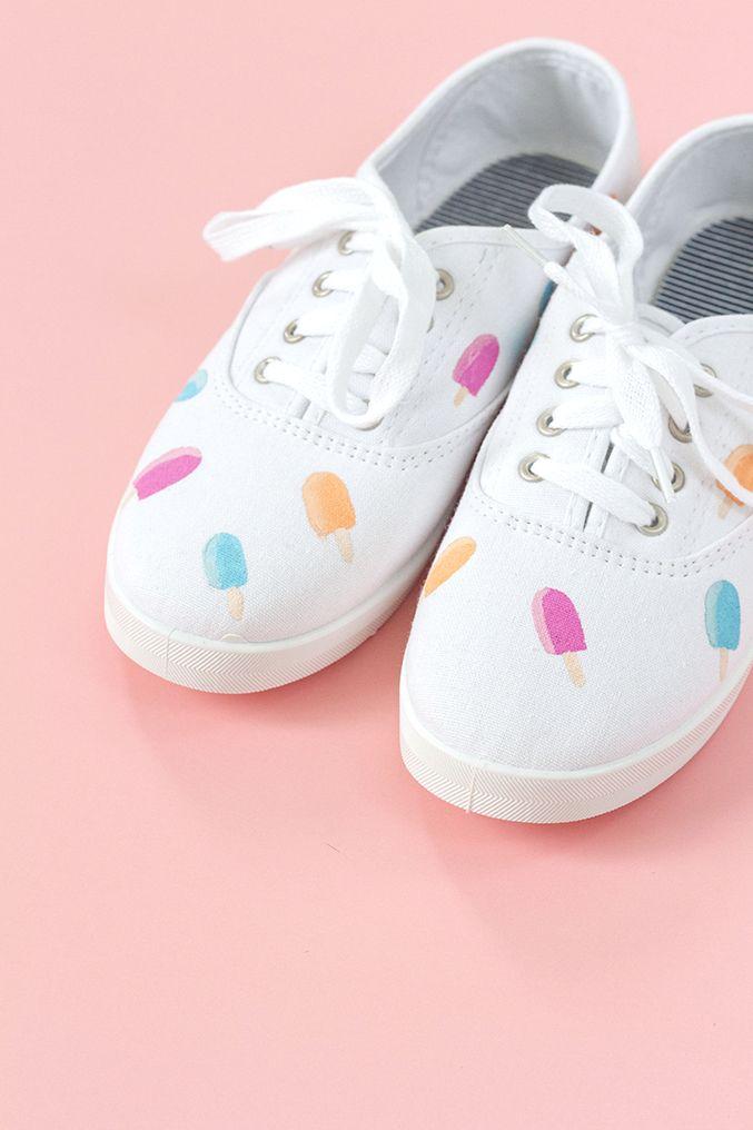 ce9634f093248c DIY Hand Painted Popsicle Canvas Shoes