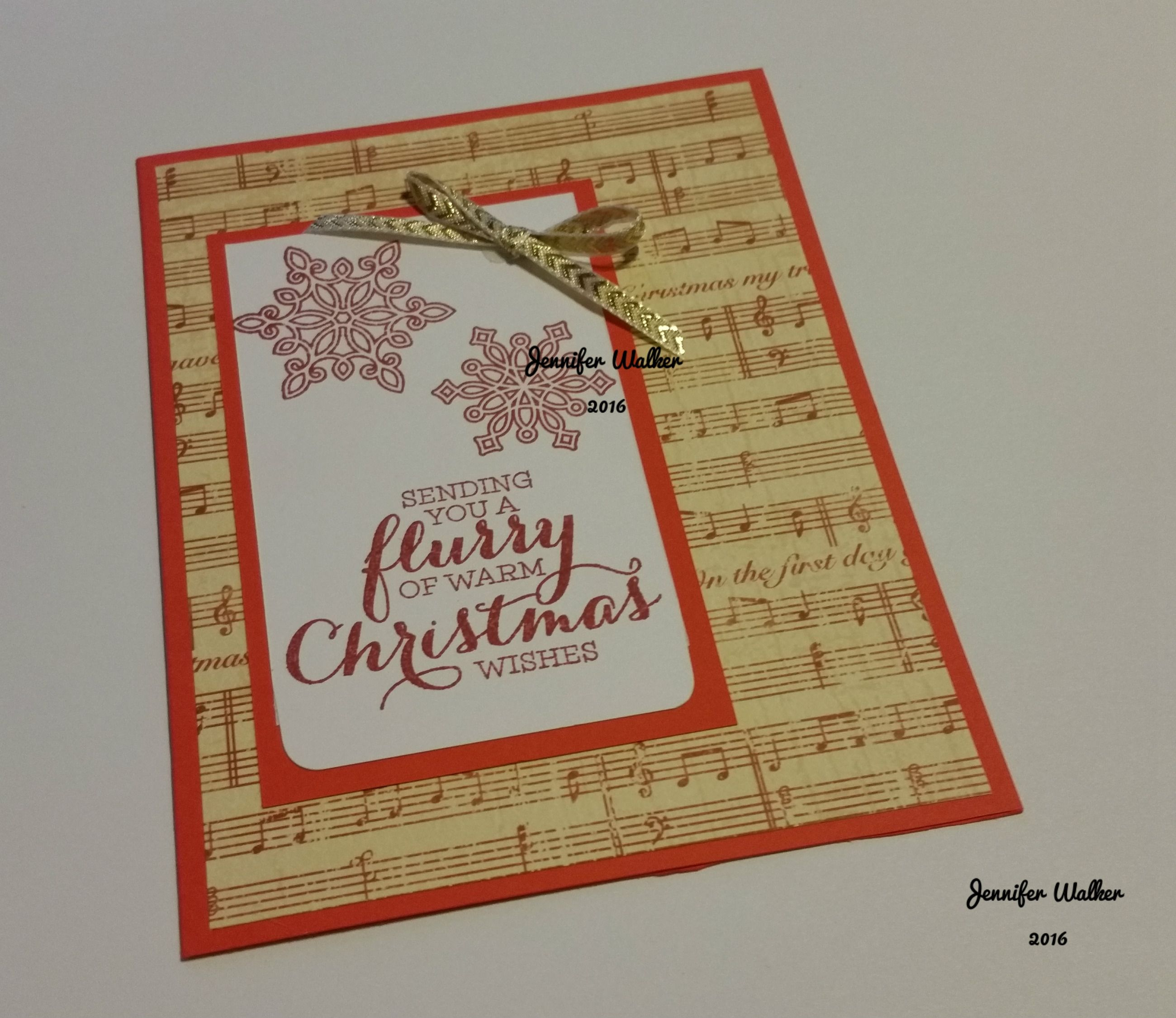 Sending You A Flurry Of Warm Christmas Wishes Handmade Card Your
