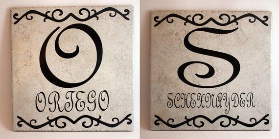 tile name plates. will be selling these soon! | Cricut crafts ...