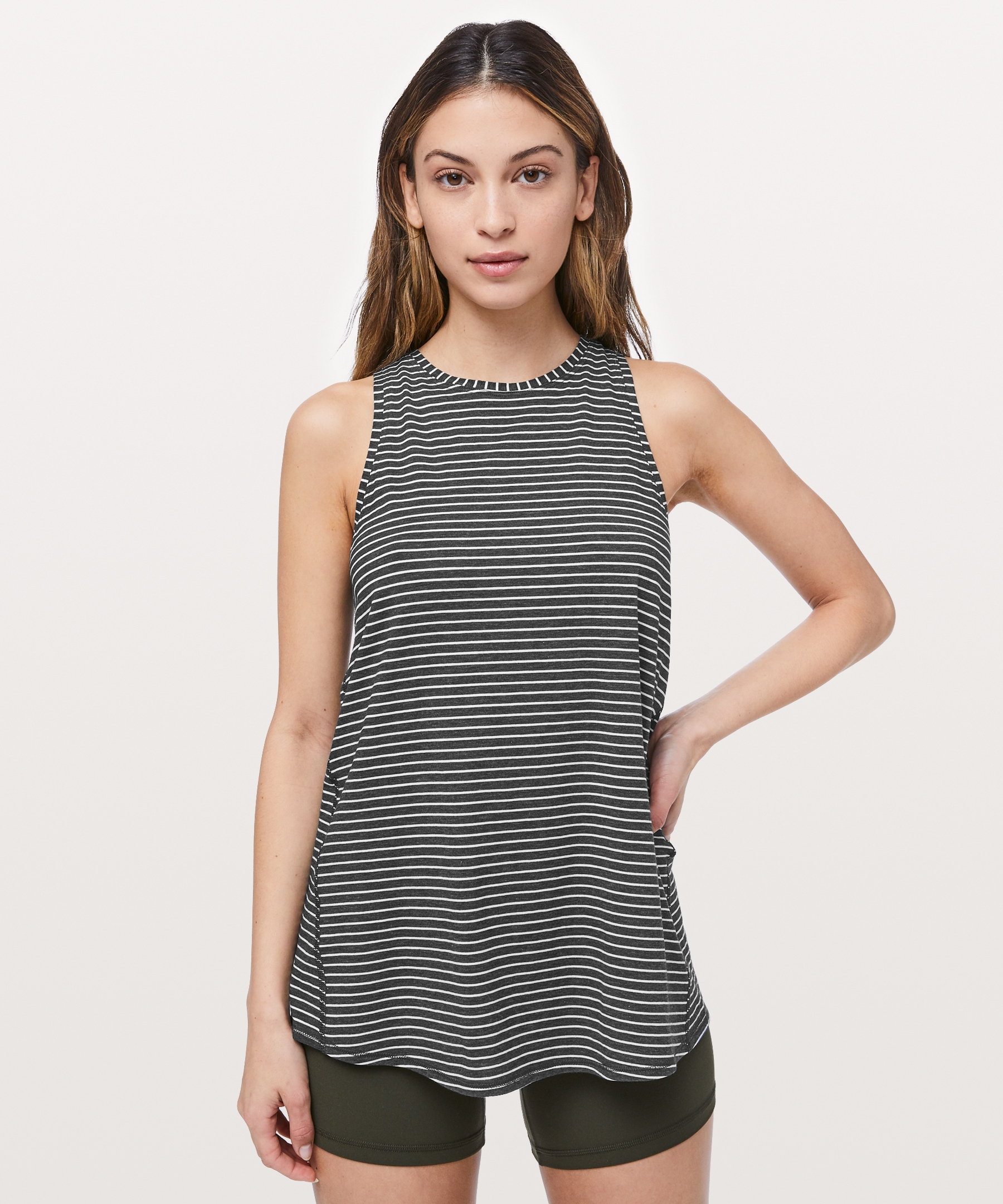 40a0850f98 All Tied Up Tank - Wear this tank two ways: layer it on long and loose or tie  up the back to secure in place during yoga class.