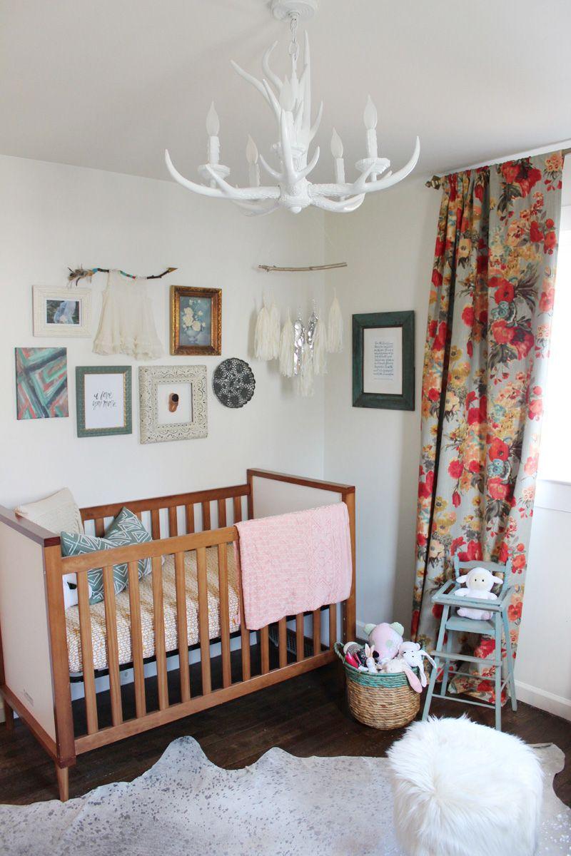 Neutral Baby Girl Nursery: Boho & Floral Inspired Little Girl's Nursery