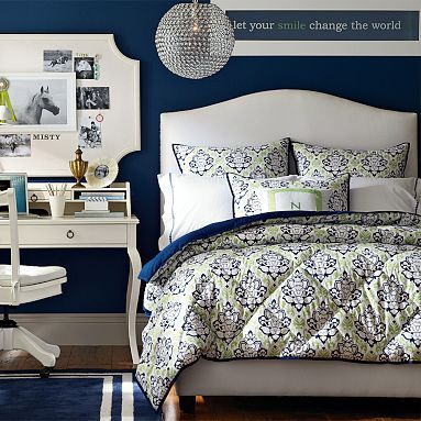 Raleigh Camelback Upholstered Headboard | Paisley bedroom ...