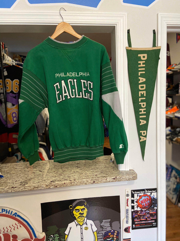 Vintage Mens Large Kelly Green Philadelphia Eagles Starter Etsy Crew Neck Sweatshirt Sweatshirts Kelly Green [ 3000 x 2250 Pixel ]