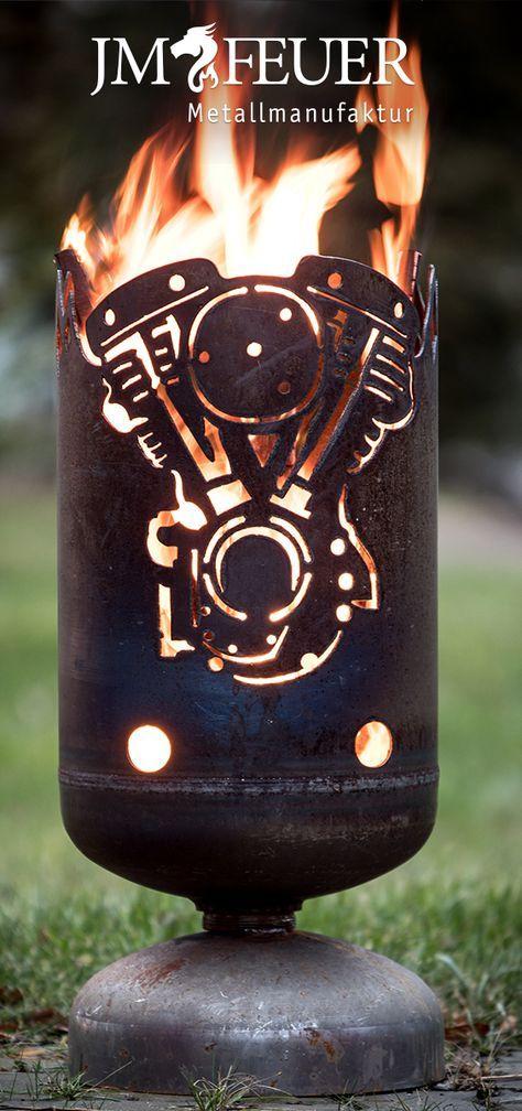 Kleiner Feuerkorb 2 Zylinder Hergestellt Aus Einer Gasflasche Jmfeuer Feuerkorb Feuer Feuertonnen