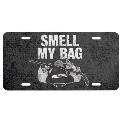 Smell My Bag Hockey Stench License Plate Zazzle Com With Images My Bags Hockey Inspiration Bags