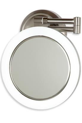 10x 1x Satin Nickel Surround Lighted Wall Mirror Wall