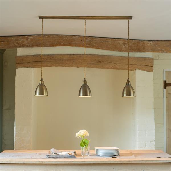 Barbican Triple Pendant Track Light Classic Modern Jim - Kitchen triple pendant lighting