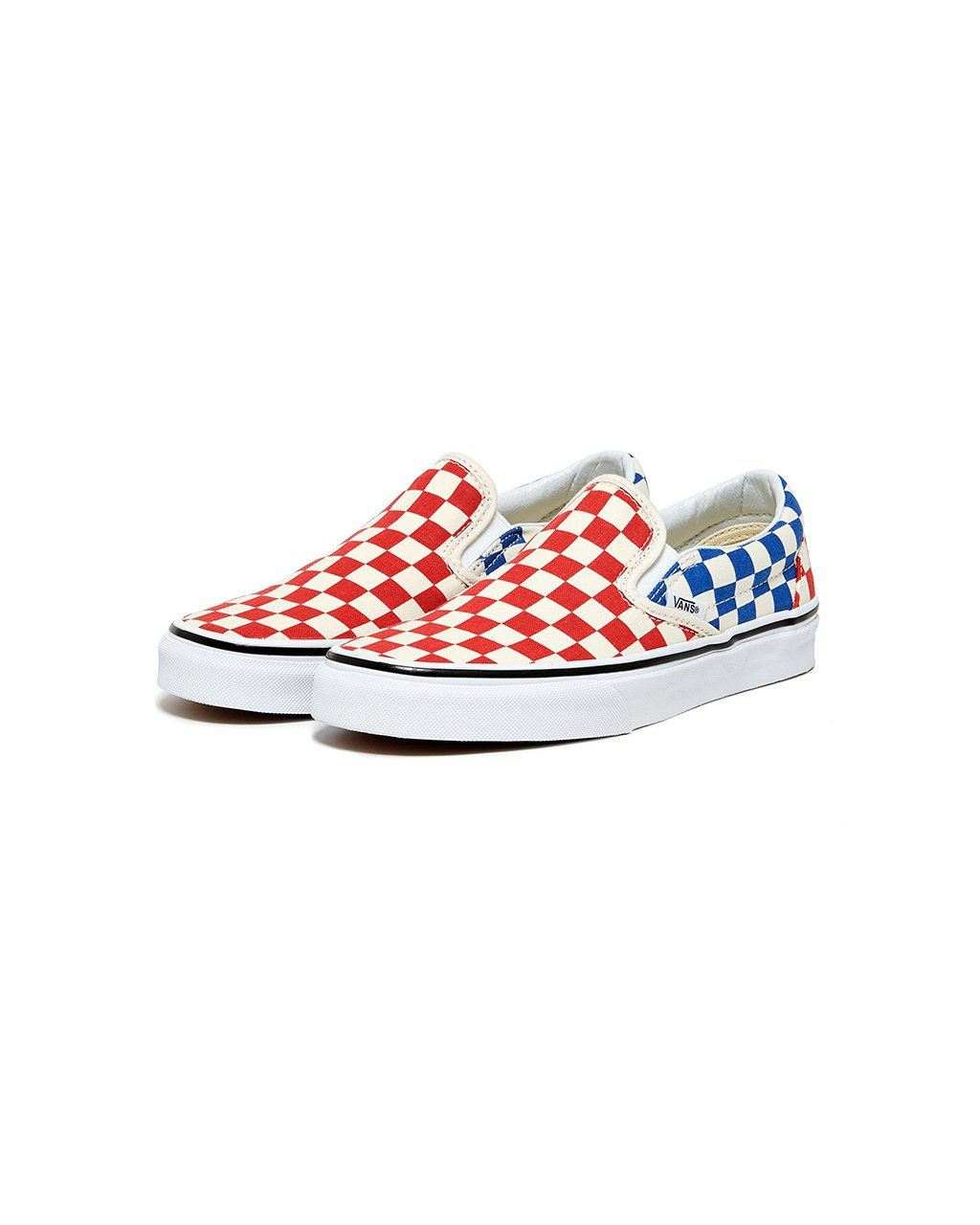 90daa75568 classic slip-on - red and blue check by vans - shoes - ban.do ...