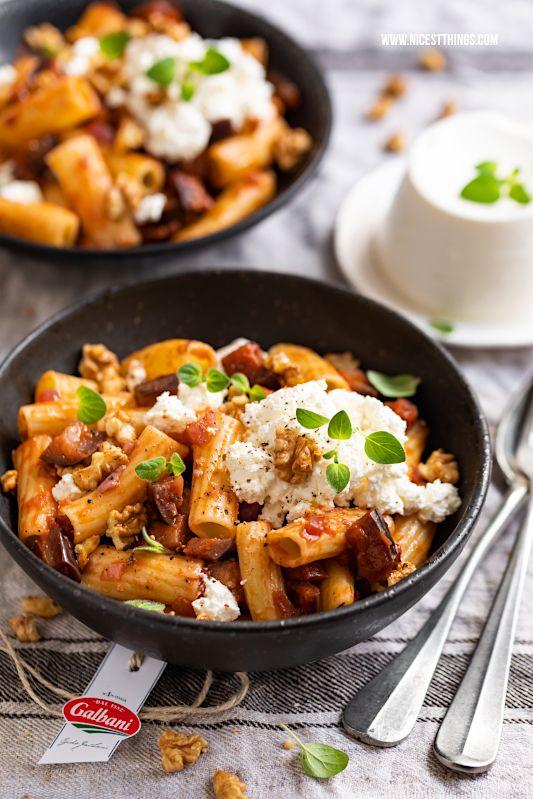 Photo of Auberginen Pasta mit Ricotta und Walnüssen – Nicest Things