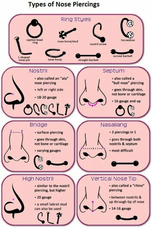 Tipos De Piercing De Nariz Purple Pinterest Piercing Tatuaggi