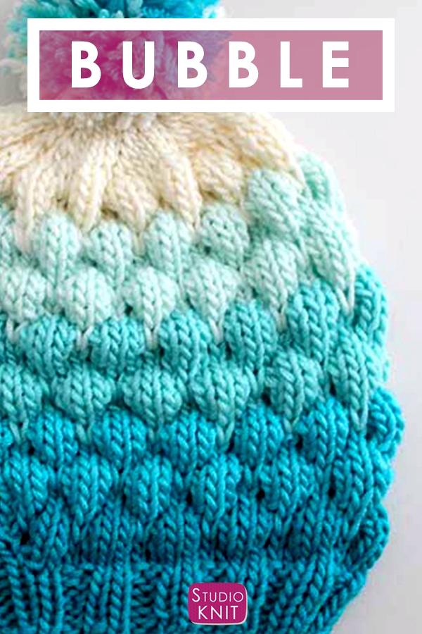 Bubble Beanie Hat (Knitting Pattern)