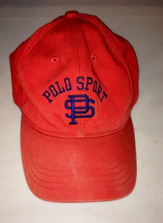 b008d6b33cf Vintage RALPH LAUREN POLO Sport Orange Baseball by FisforFRESH ...