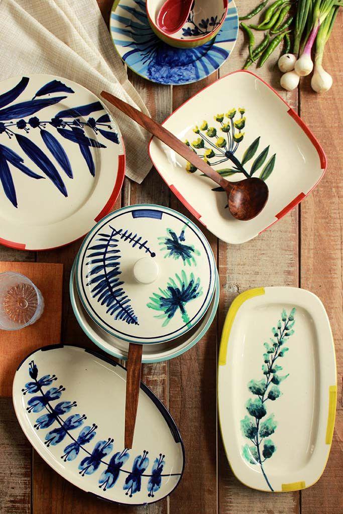 10 Indian Ceramic Brands Platos de cerámica, Cerámica
