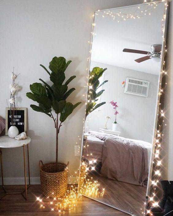 Adding A Little Magic With Fairy Lights Room Wall Decor Bedroom