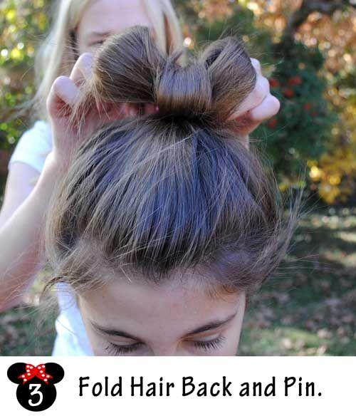 Last Minute Halloween Ideas Minnie Mouse Hair Tutorial Hair