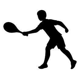 Tennis Player Silhouette Free Svg Tennis Players Free Sport Silhouette Free