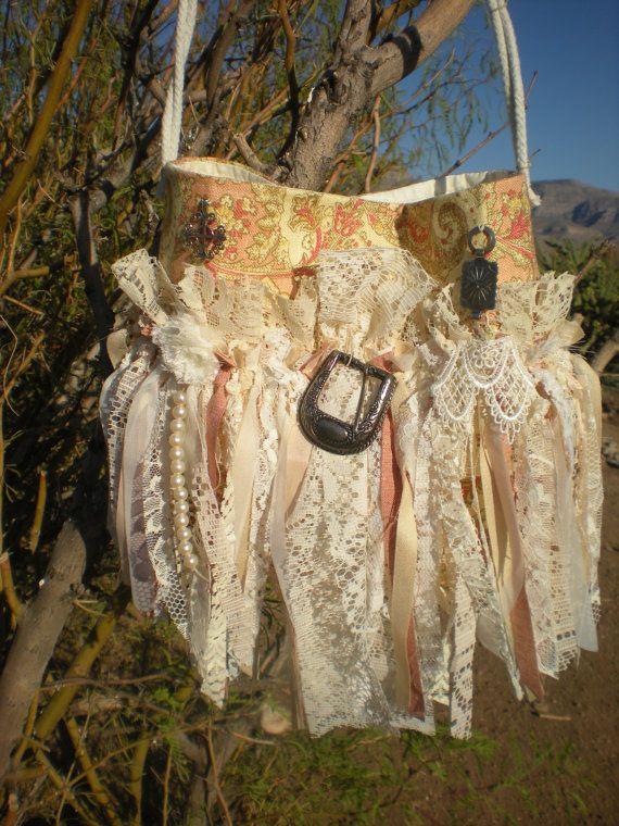 MEDIUM Cowgirl Gypsy Fringe Purse   Bohemian Western by Pursuation, $42.00