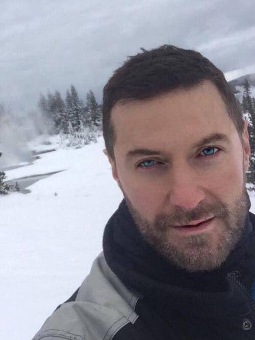 Richard's selfie while skiing :)