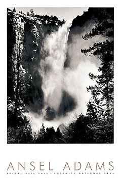 Bridal Veil Falls/Yosemite Ansel Adams Photography ✖️ Art. Ideas. Home. Fashion ✖️FOSTERGINGER AT PINTEREST ✖️
