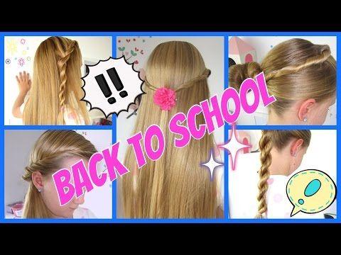 Back To School 5 Einfache Und Schnelle Frisuren 3minuten Flechtfrisuren Fur Madchen Geflochtene Frisuren Kinderfrisuren Schnelle Frisuren