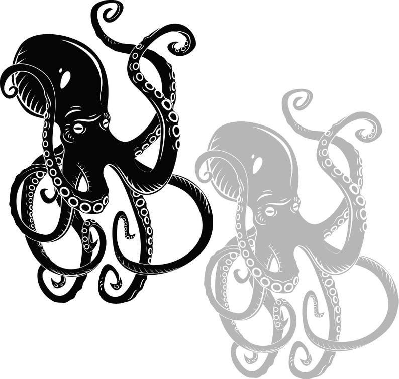 Octopus in svg, dxf, eps, jpg, Download files, Digital