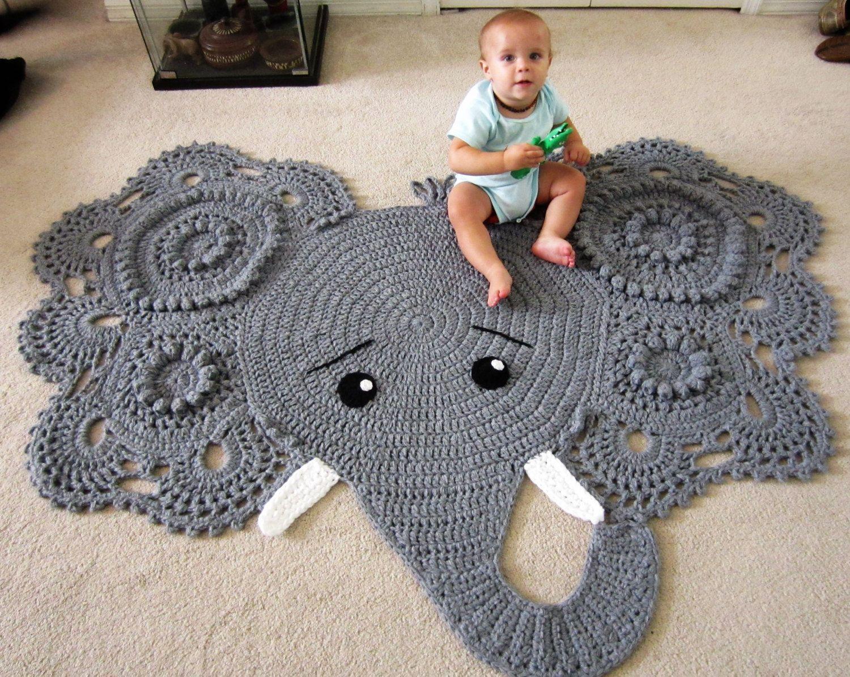 Elephant Rug Crochet Nursery